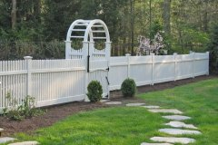 Pathway, Fence, and Arbor Installation