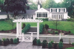Fence, Stone, and Planting Design