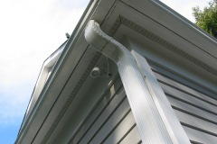 Disguised Custom Soffit Fixture to Illuminate Steps Below