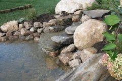 Pond With Large Boulder Placement