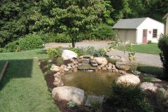 Patio View of Side Yard Pond